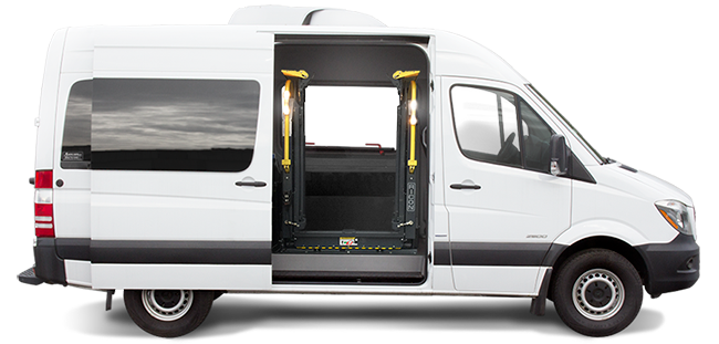 Side-entry Mercedes-Benz Sprinter