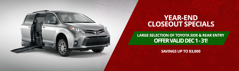Toyota Wheelchair Vans for Sale