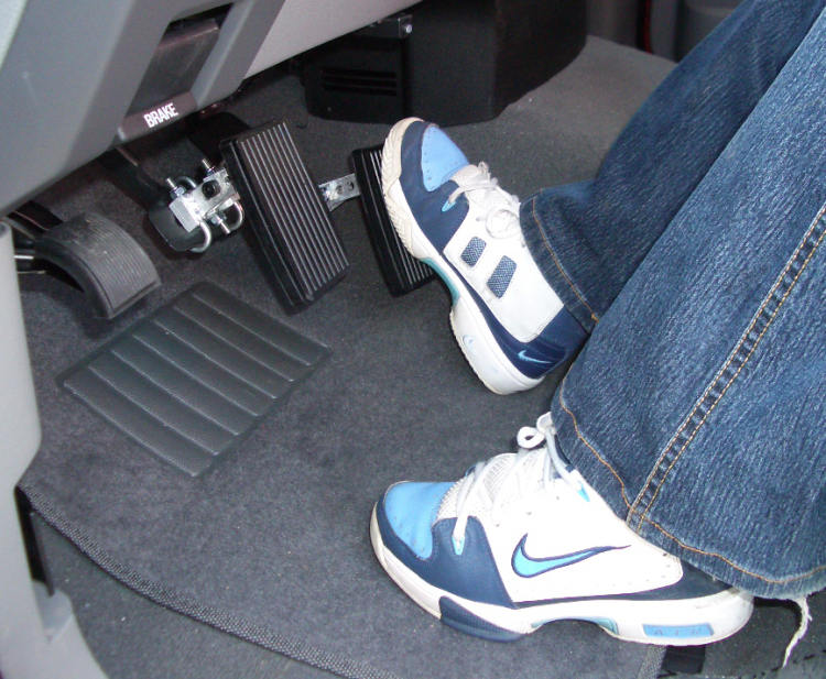 Pedal Extensions for Gas and Brake Pedals
