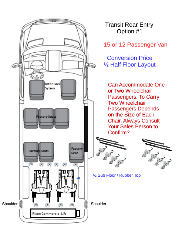 Ams Ford Transit Rear Lift Wheelchair Accessible Van