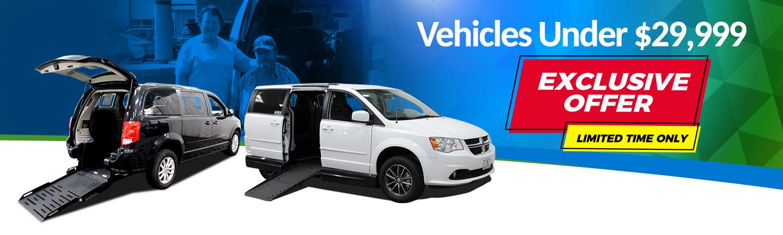 Limited Offer, Vans Under $30K