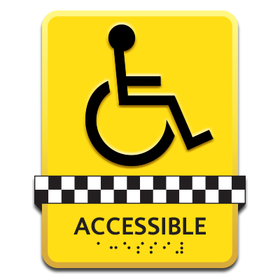 Accessible Taxi Sign