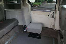 Wheelchair Vans Single Jump Seat Open