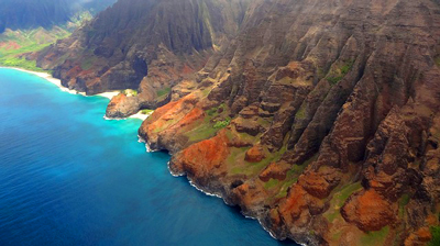 View from a helicopter tour in Hawaii