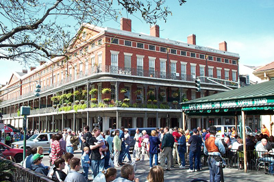 The famous French Quarter