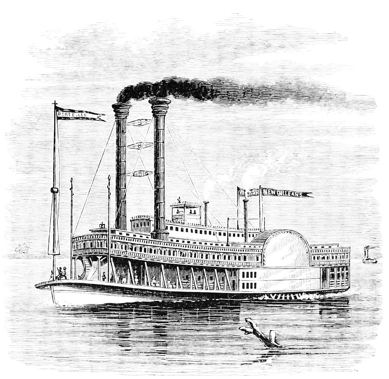 Old photo of a steamboat