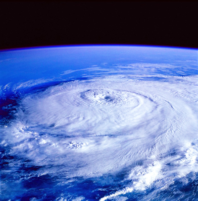 A hurricane seen from space