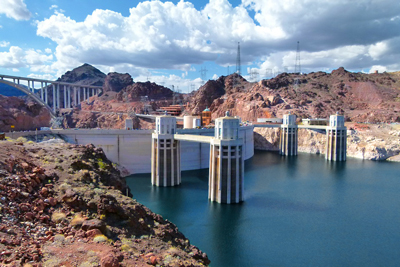 Sunny day at the Hoover Dam