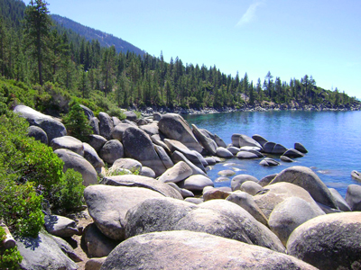 Rocky shores of Lake Tahoe