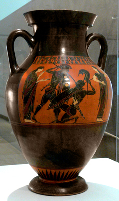 Greek vase from antiquity