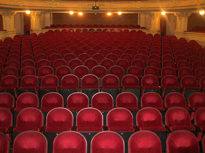 Red velvet theater seating