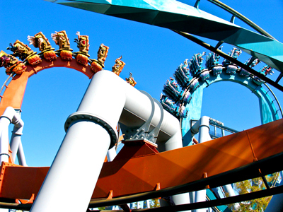 Roller coaster at Universal Studios
