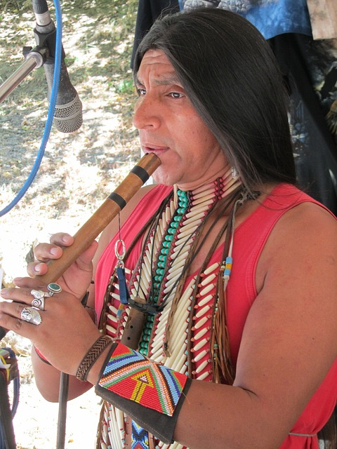 Native American Playing Recorder