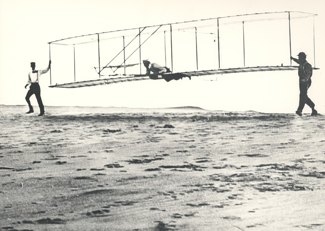 Wright Brothers and Plane