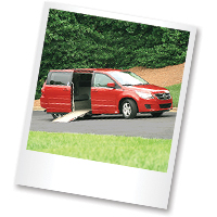 AMS Vans converted red Routan