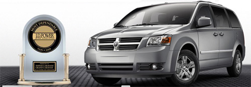 2009 Dodge Grand Caravan awarded Most Dependable JD Power Award