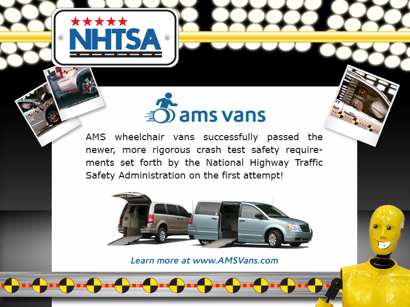 AMS Vans and NHTSA crash test standards.