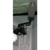 Dash mounted gear shift extension for hand controls in handicap van