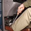 Park Brake device extension for hand controls for handicap van
