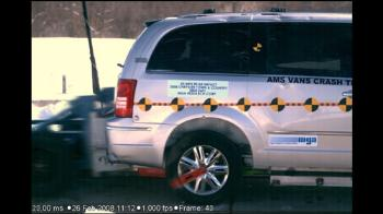 Rear Crash Test on Handicap Accessible Wheelchair Van