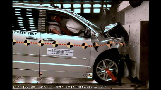Front Crash Test on Wheelchair Accessible Van