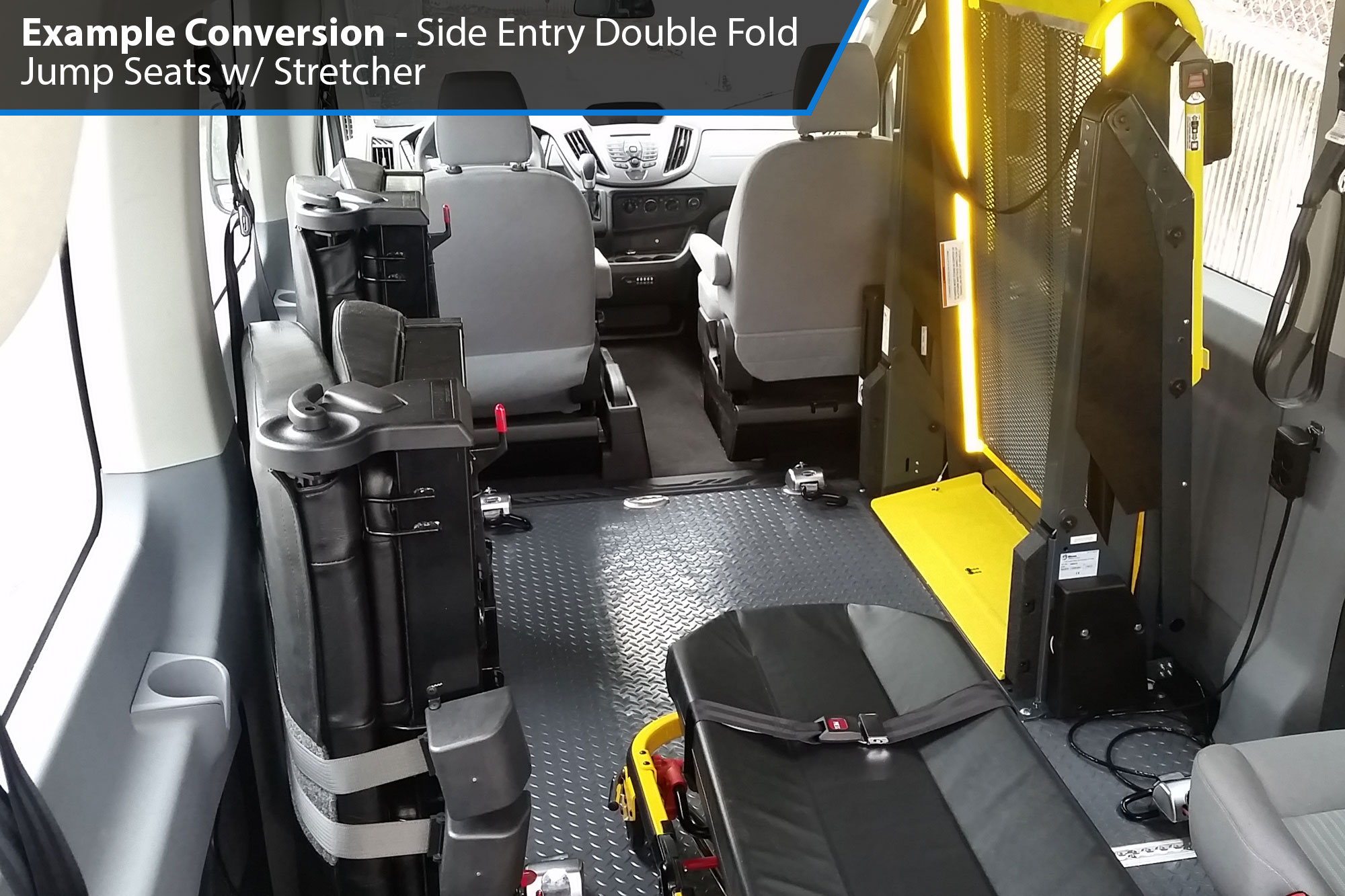 AMS Ford Transit Side Lift Wheelchair Accessible Van Conversion