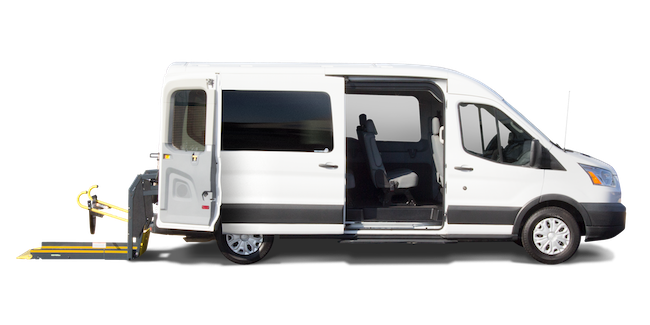 Rear-entry Ford Transit