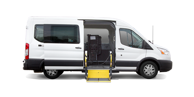 Side-entry Ford Transit