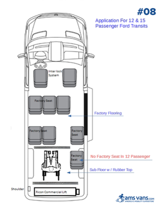 Ford Transit Wheelchair Conversion Type #08