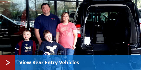 Rear Entry Wheelchair Vans for Sale