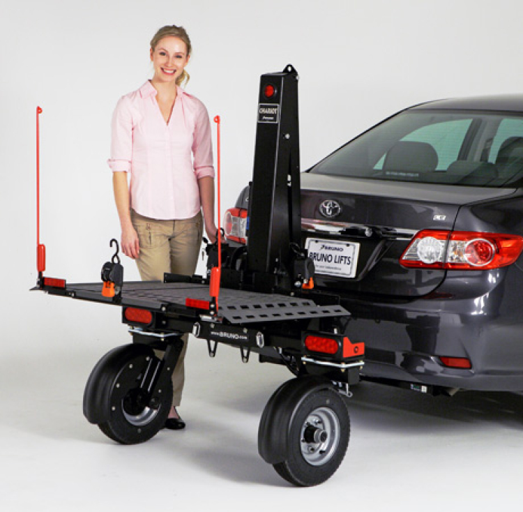 Auto Lifts For Disabled : Bruno chariot platform lift with wheels model asl