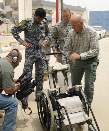 Brad Blauser and wheelchair